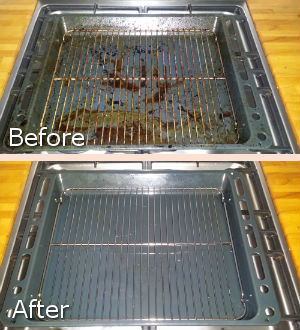 Grill Cleaning Before After